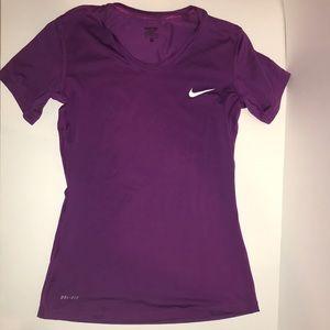 Purple Nike Pro Tee